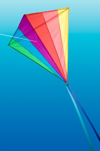 Rainbow「Rainbow Delta Kite on Blue Sky」:スマホ壁紙(4)