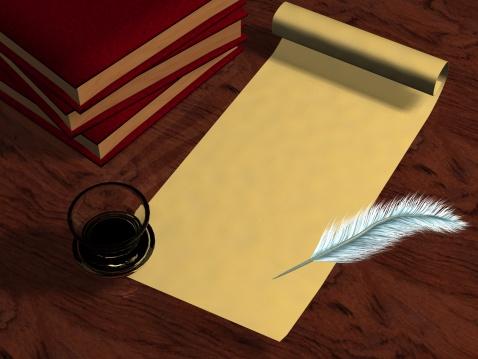 Manuscript「3D old letter books pen」:スマホ壁紙(12)