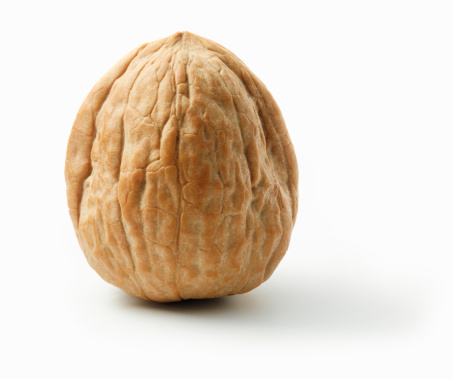 Walnut「Walnut in shell on white background」:スマホ壁紙(18)