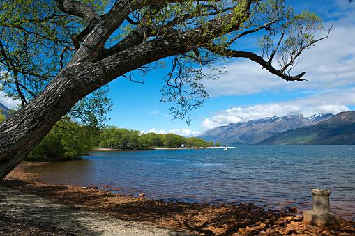 静かな情景「Lake Wakatipu seen from Glenorchy Waterfront Reserve.」:スマホ壁紙(1)