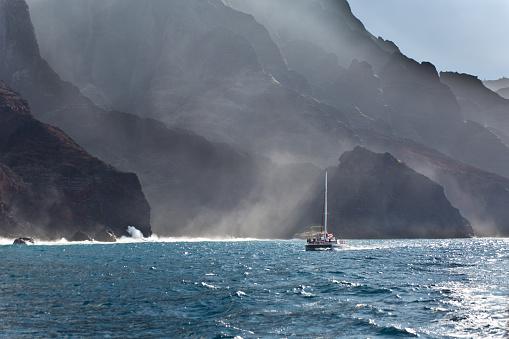 Cruise - Vacation「Boat tour on Scenic Landscape of Na Pali Coast of Kauai, Hawaii」:スマホ壁紙(0)