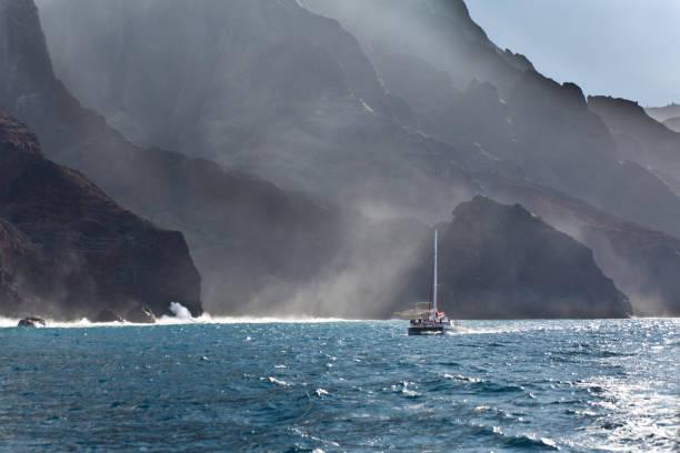 Boat tour on Scenic Landscape of Na Pali Coast of Kauai, Hawaii:スマホ壁紙(壁紙.com)