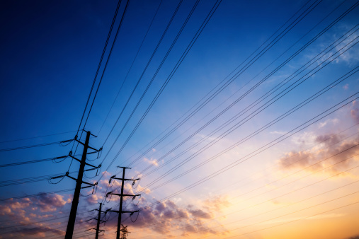 Electricity Pylon「pylons with sunset」:スマホ壁紙(5)