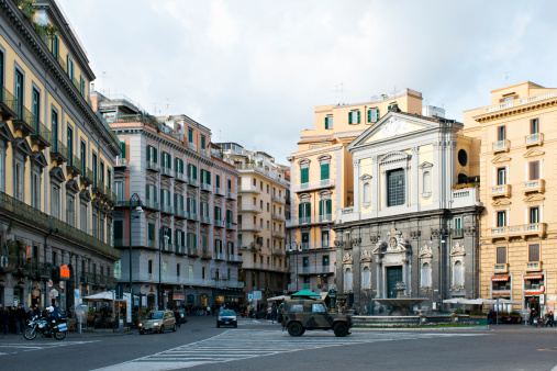 Motorcycle「Piazza Trieste e Trento and the Carciofo fountain.」:スマホ壁紙(13)