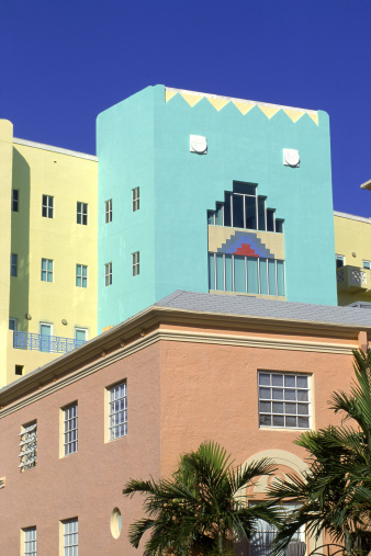 Miami Beach「Art deco architecture, South Miami Beach, FL」:スマホ壁紙(7)