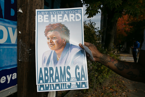 Jessica McGowan「Gubernatorial Candidate Stacey Abrams Campaigns On Election Day In Atlanta」:写真・画像(2)[壁紙.com]