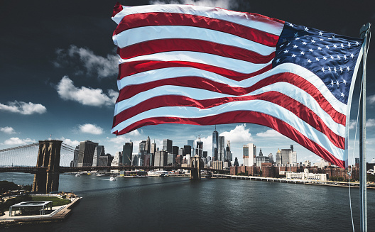 Fourth of July「us national flag for a national day on the manhattan」:スマホ壁紙(8)