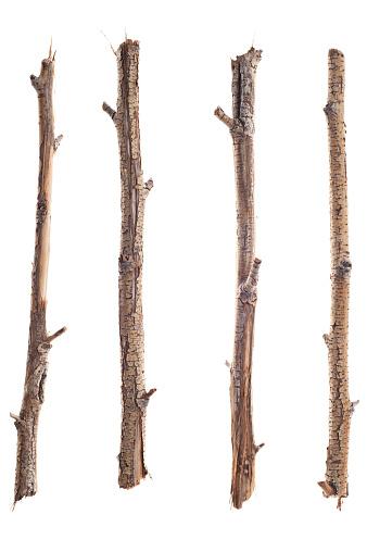 小枝「トゥイグス、スティック枝、白で分離」:スマホ壁紙(5)