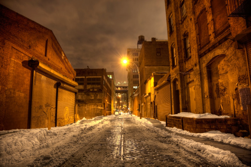 雪「ダーク街の通りのはブルックリンです。」:スマホ壁紙(4)