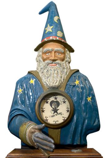 魔術師「Wizard bust with clock」:スマホ壁紙(14)