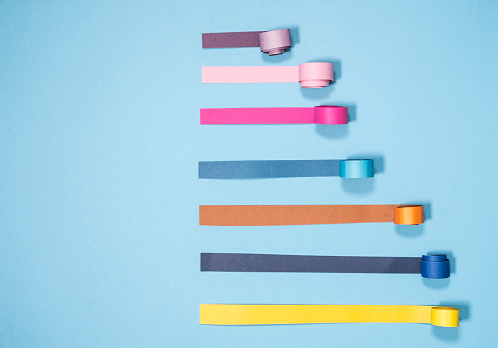 Paper Craft「Curled Paper Bar Chart」:スマホ壁紙(2)
