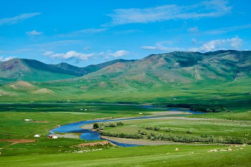UNESCO「Mongolia, Ovorkhangai province, Orkhon valley, nomad camp」:スマホ壁紙(1)