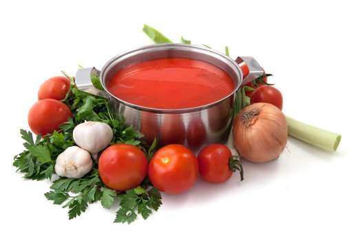 Vegetable Juice「Pan of homemade tomato sauce with vegetables」:スマホ壁紙(16)