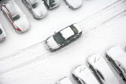 雪「お車の運転をユキコ駐車場」:スマホ壁紙(12)