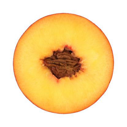Cross Section「Peach portion on white」:スマホ壁紙(7)