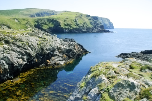 マン島「Clear waters and stunning coast, Isle of Man, U.K.」:スマホ壁紙(7)