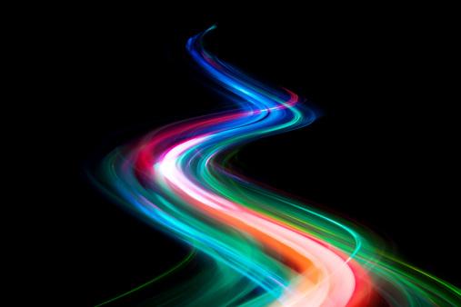 Light Painting「abstract coloured light energy motion trails」:スマホ壁紙(6)