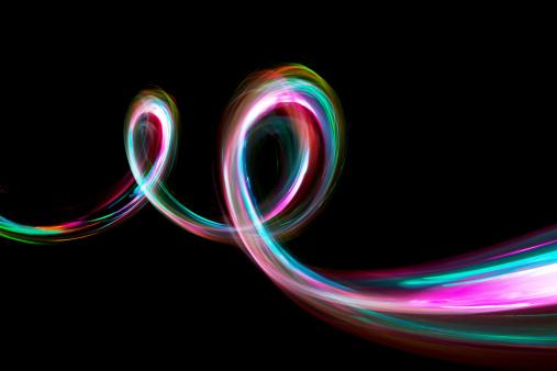 Light Painting「abstract coloured light energy motion trails」:スマホ壁紙(4)