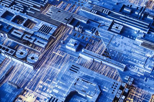 CPU「Abstract computer technology background」:スマホ壁紙(2)