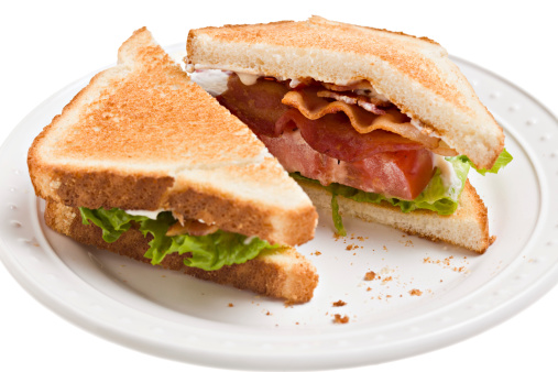 Toasted Food「BLT, Bacon,Lettuce And Tomato Sandwich On Toast」:スマホ壁紙(6)