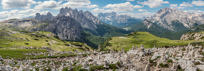 Alto Adige - Italy「Cairns in the Dolomites mountains Italy」:スマホ壁紙(3)