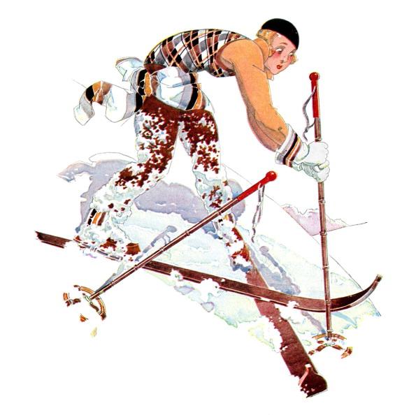 Skiing「Woman skiing, 1930s」:写真・画像(3)[壁紙.com]