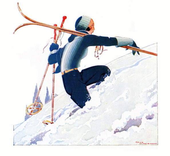 Skiing「Woman skiing, 1930s」:写真・画像(13)[壁紙.com]