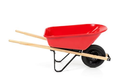 Gardening「Red Wheelbarrow Isolated」:スマホ壁紙(6)