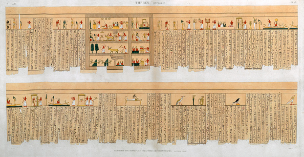 Manuscript「Ilustrations Of A Manuscript With Hieroglyphics From A Tomb At Thebes Egypt 1822」:写真・画像(5)[壁紙.com]