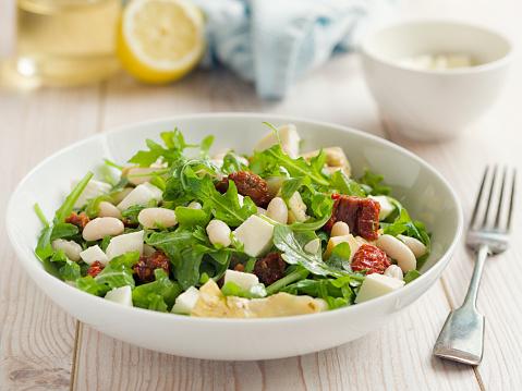 Vinaigrette Dressing「Cannelloni beans with artichokes rocket salad」:スマホ壁紙(17)