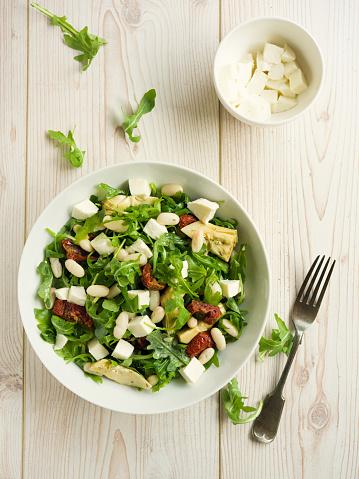 Vinaigrette Dressing「Cannelloni beans with artichokes rocket salad」:スマホ壁紙(16)