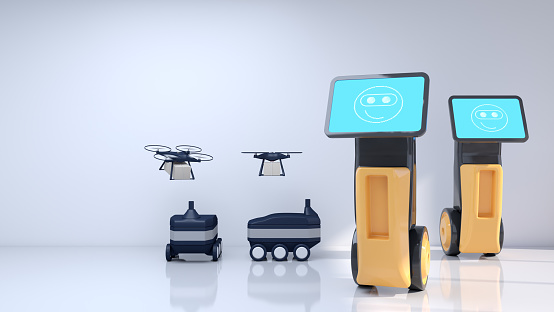 Internet of Things「Modern robots that improve people's lives. Artificial intelligence in everyday life.」:スマホ壁紙(5)