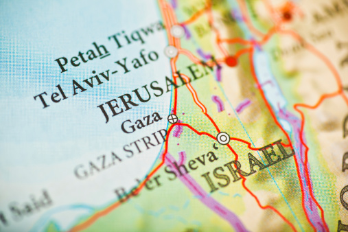 Gaza Strip「Jerusalem,Israel map」:スマホ壁紙(2)