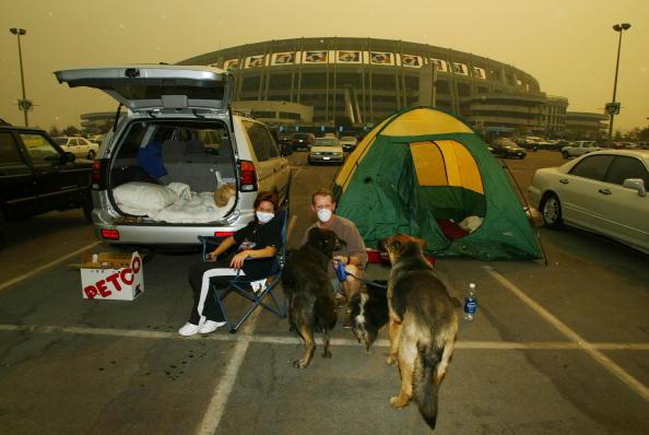 Evacuation「Fires Rage On In Southern California」:写真・画像(3)[壁紙.com]