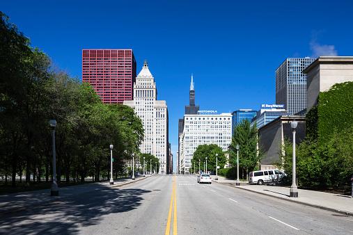 南北アメリカ「USA, Illinois, Chicago, skyscrapers with Willis Tower」:スマホ壁紙(17)