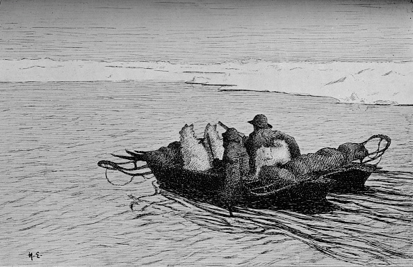 Etching「'Crossing a Crack in the Ice', c1893-1896,」:写真・画像(15)[壁紙.com]
