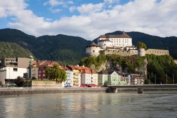 Austria, Tyrol, Kufstein, Old town, Kufstein Fortress, Inn river:スマホ壁紙(壁紙.com)