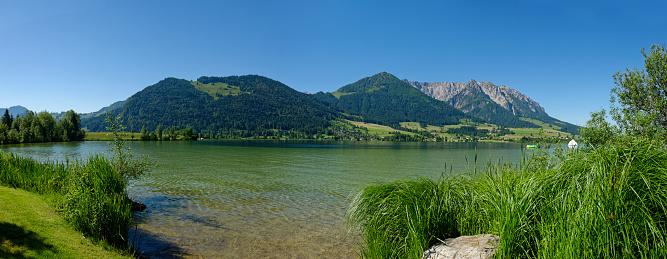 Walchsee「Austria, Tyrol, Walchsee with Zahmer Kaiser」:スマホ壁紙(6)