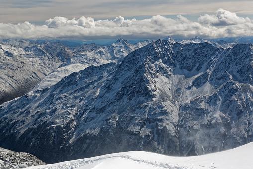 北チロル「Austria, Tyrol, Oetztal, Soelden, view from observation deck Schwarze Schneid on Oetztal Alps」:スマホ壁紙(9)