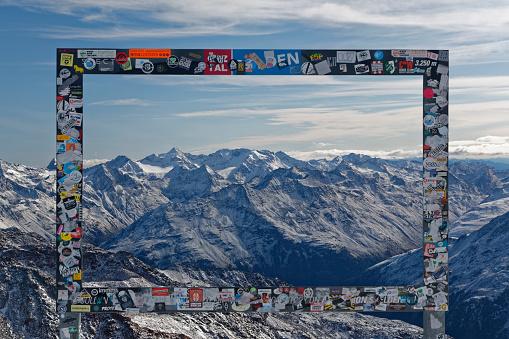 北チロル「Austria, Tyrol, Oetztal, Soelden, Schwarze Schneid, picture frame before Oetztal Alps」:スマホ壁紙(4)