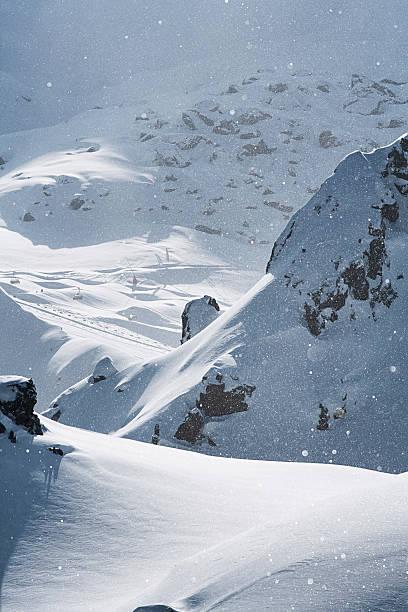 Austria, Tyrol, Ischgl, snowfall in the mountains:スマホ壁紙(壁紙.com)