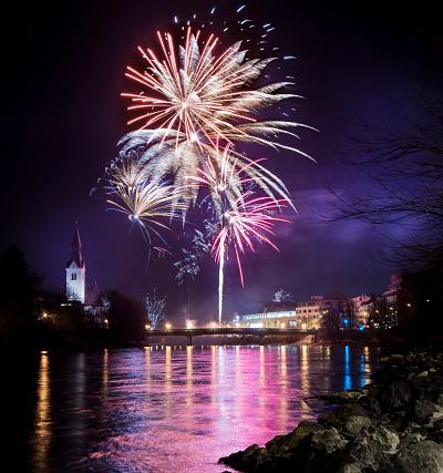 花火「Austria, Tyrol, Schwaz, New Years Eve fireworks」:スマホ壁紙(9)