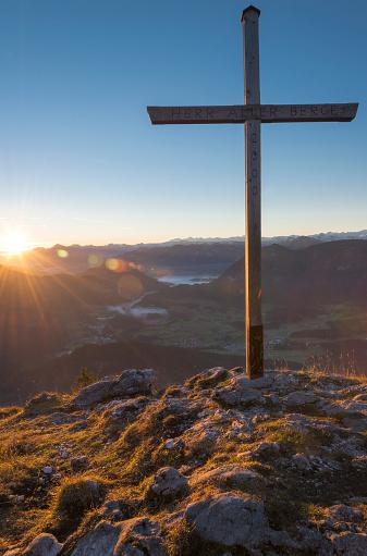 北チロル「Austria, Tyrol, Kufstein, View from Pendling at sunrise」:スマホ壁紙(16)