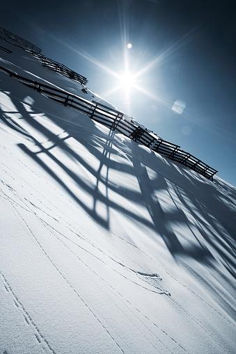 Ischgl「Austria, Tyrol, Ischgl, avalanche protection in winter landscape」:スマホ壁紙(18)