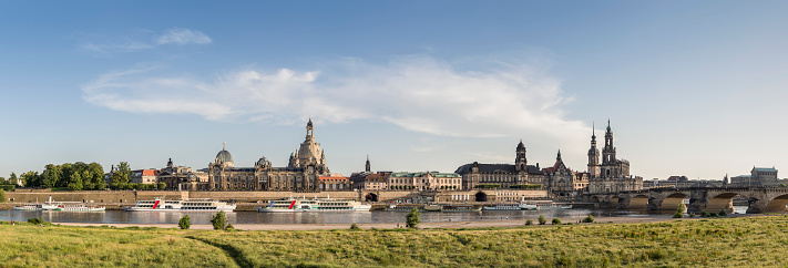Saxony「Germany, Saxony, Dresden, historic city center at River Elbe」:スマホ壁紙(12)