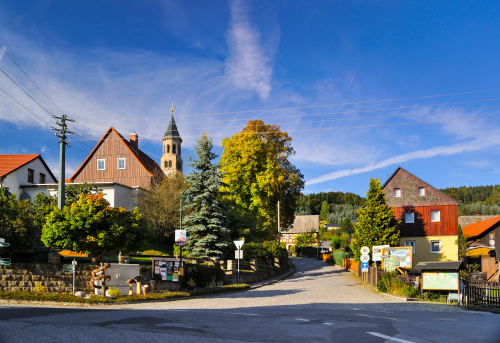 Perfection「Germany, Saxony, Sebnitz, district Saupsdorf, Townscape」:スマホ壁紙(1)