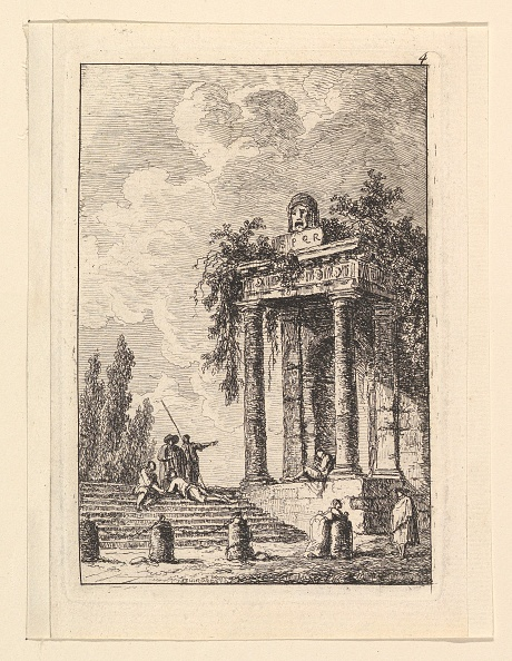 Bollard「Lescalier Aux Quatre Bornes by  Hubert Robert」:写真・画像(15)[壁紙.com]