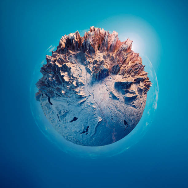 Salzburg 3D Little Planet 360-Degree Sphere Panorama Blue:スマホ壁紙(壁紙.com)