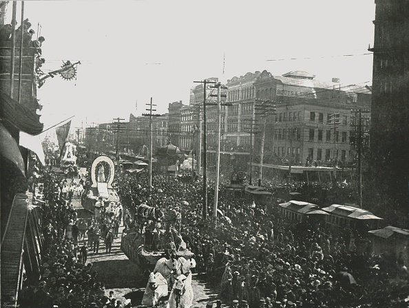 1890-1899「The Mardi Gras Parade In Canal Street」:写真・画像(4)[壁紙.com]
