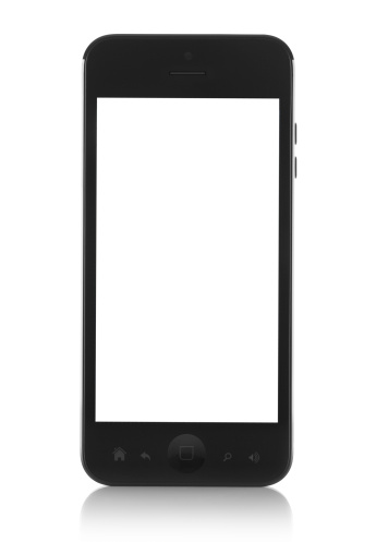 Outline「Modern generic black smartphone with white screen」:スマホ壁紙(14)